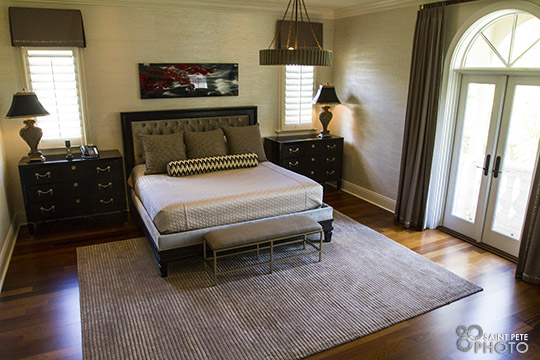 A great night's sleep is guaranteed in this well-appointed bedroom.