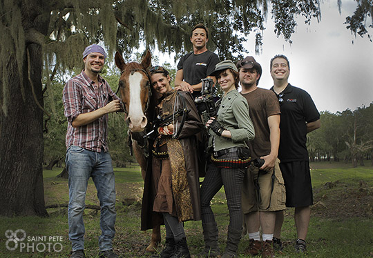 Our St. Petersburg photography company with the cast and crew.