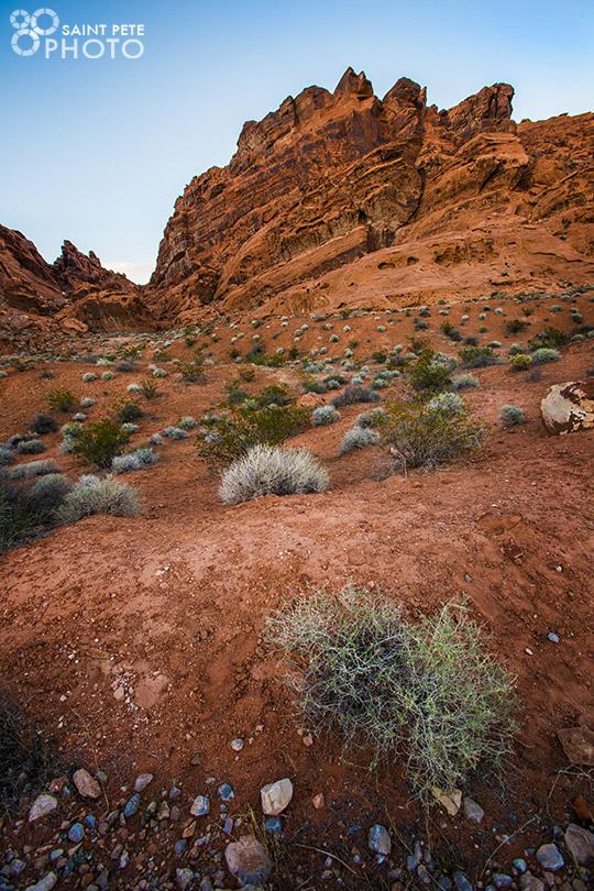 The magnificent rocks outside Las Vegas.